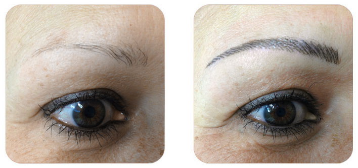 Maquillage permanent - Sourcils - Institut de beauté Aline, Aiguillon, Lot-et-Garonne